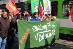 der Jugendblock auf der 1.Mai Domnstration
